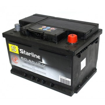 Aкумулатор Starline 60 Ah Aзия Р